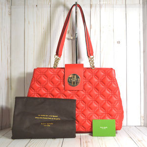 KATE SPADE Elena Astor Court Red Leather Purse